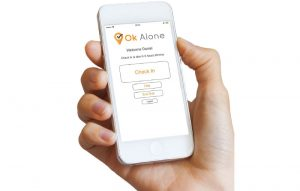 Our lone worker app is part of the Ok Alone work alone system