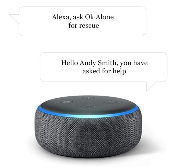 How to get get help as a lone worker status with Alexa and Ok Alone