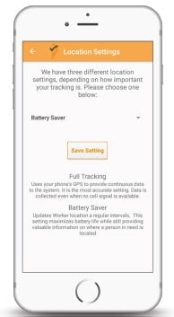 Running low on battery? No problem! You control whether you want full tracking, or to use the battery saver mode.