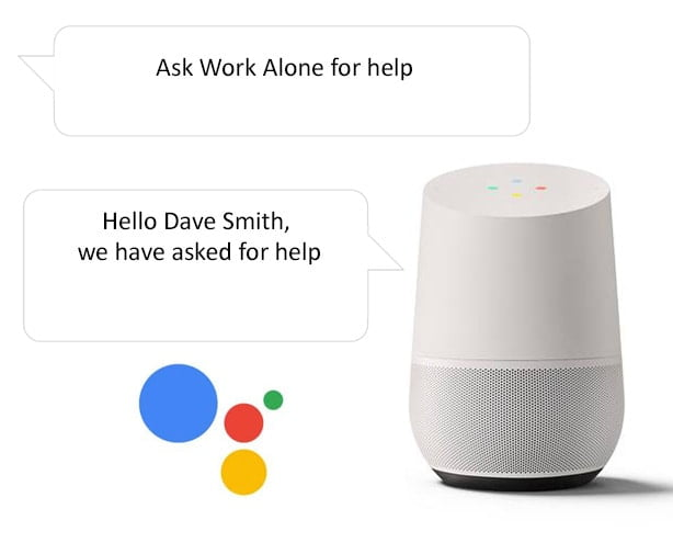 Get help when lone working with the Google Home smart speaker and Ok Alone