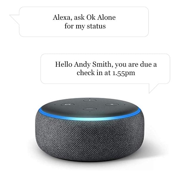 How to get your work alone status with Alexa and Ok Alone