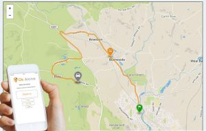Location monitoring in our work alone system