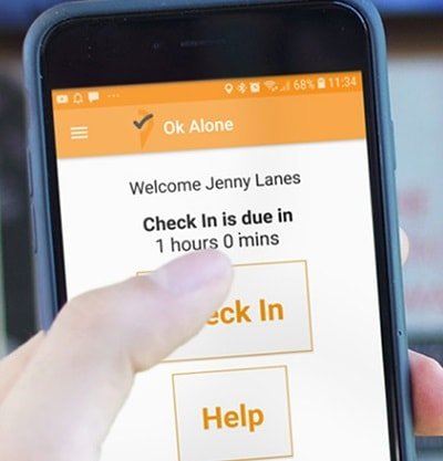 Check in with the Lone Worker App