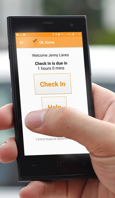 Press the Help button on our lone worker app to request help