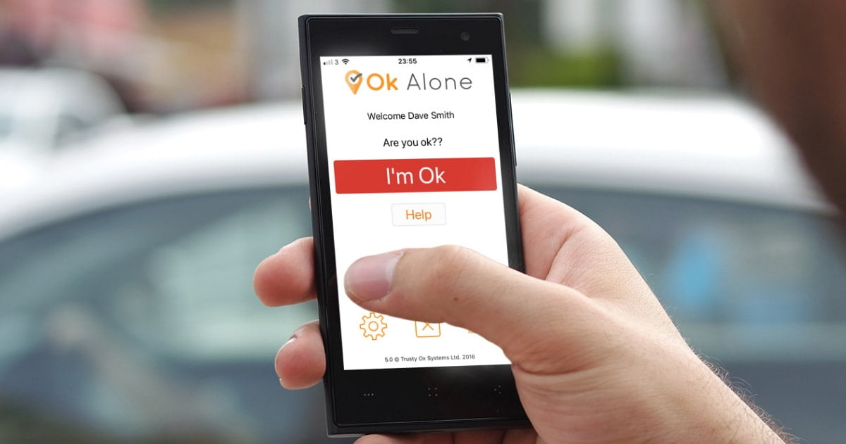 Request help with the ok alone lone worker app