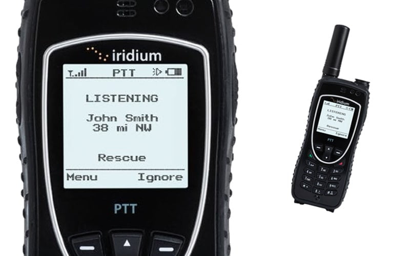The Iridium Extreme PTT Satellite Phone works with Ok Alone for your lone workers