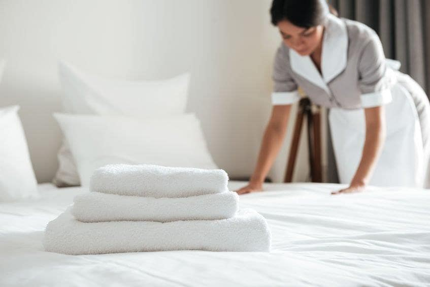 Female hotel lone worker
