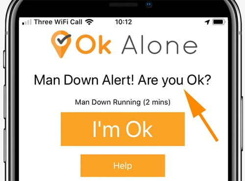 man down worker alert for iphone