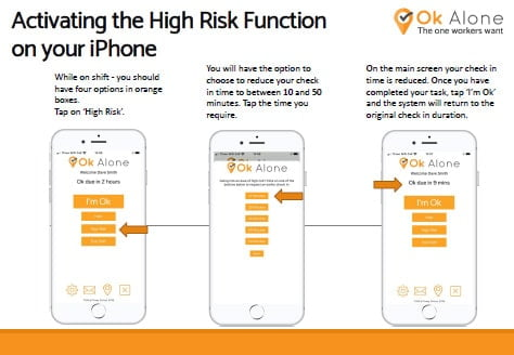 Activating the High Risk Function on your iPhone