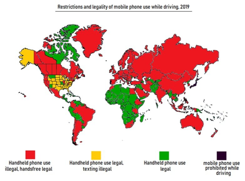 International driving laws affecting lone workers