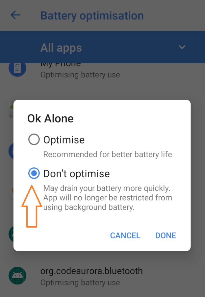 Choose the Don't Optomise option