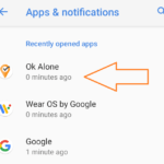 Select Ok Alone in the App Settings