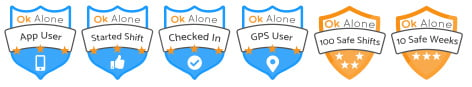 Lone worker safety badges
