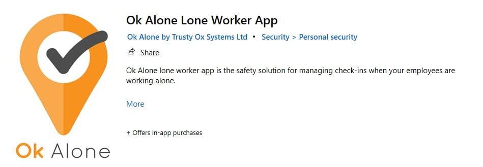 Lone worker app for Windows