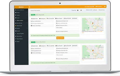 cloud based dashboard for protection control