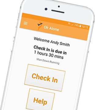 lone worker app check in