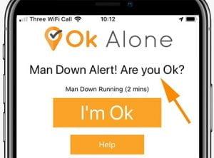 man down app on smartphone